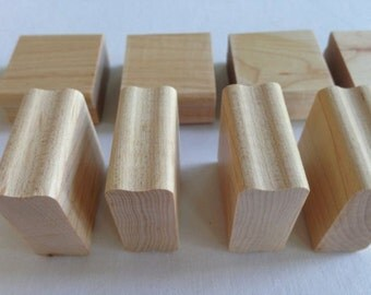 """Wood Mounting Blocks for Rubber Stamps – Set of 8 - 1-5/8"""" x 1-3/4"""" x 3/4"""" deep"""