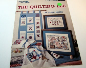 The Quilting Bee Cross Stitch Pattern Leaflet by Debbie Mumm and Leisure Arts