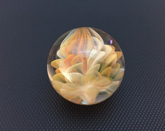 Silver and Gold Fumed Dot Implosion Vortex Marble