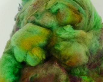 Spinning Fiber Cormo COATED Wool Locks Spinning and Felting Wool 1.4 Ounces Hand Dyed- Discover (dyelot 2)