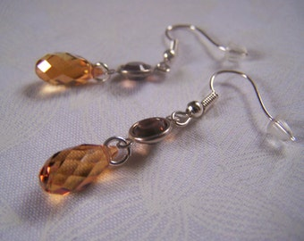 Earrings Swarovski Crystal Briolette Dangle Earrings