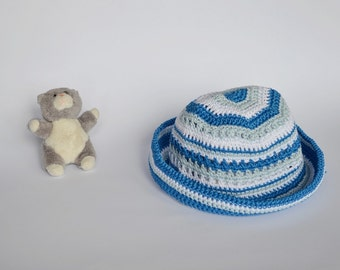 Summer baby accessories Baby sky blue hat  Crochet infant hat Baby gift hat  3 to 6 months