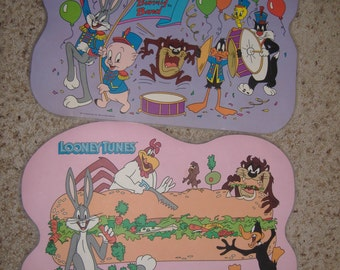 Pair of Looney Tunes Placemats, 1989