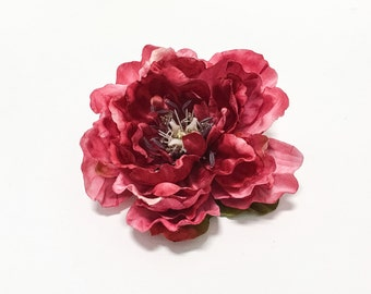 Fuchsia HOT PINK Peony - 5 Inches, Artificial Flowers, Wedding, Silk Flowers