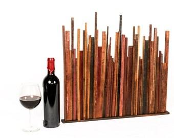 BARREL ART SKYLINE - Downtown  - Limited Edition Wine Barrel Wall Art // Unique // Cityscape // Wall Decor // Recycled Reclaimed Oak