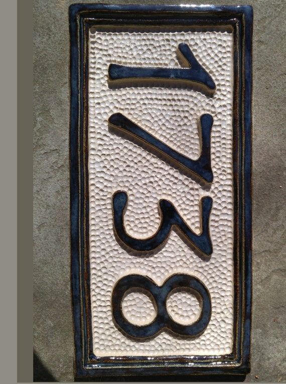 tile house number plaque