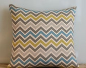 ON SALE Zoom Zoom Summerland Chevron Pillow Cover - 16 inch