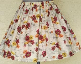 Sale - Beautiful Fall Skirt - Sizes X-Small - Large Ready to ship