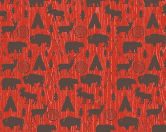 High Adventure Main in Red Fabric by Riley Blake - 1 Yard