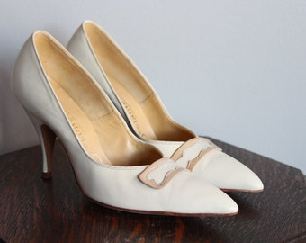 1950s Heels // Socialite Stiletto Heels // vintage 50s shoes