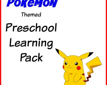 Pokemon Themed Preschool Learning Pack