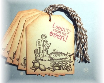 Baked with Love- Lovin' from the oven - gift/hang tags (8)