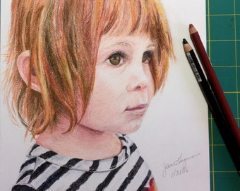 Pastel Drawing - Small Child