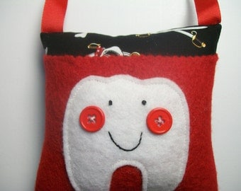 Tooth Fairy Pillow Boys Pirates tooth pillow, hanging pillow, toothfairy
