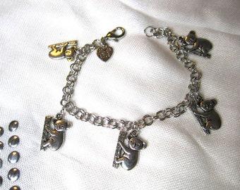 Koala Bear Charm Bracelet