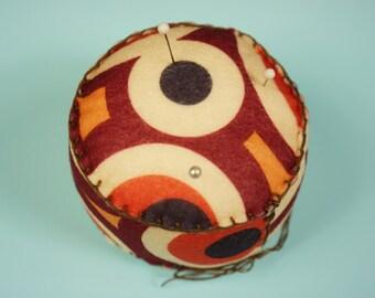 70's Mod Circles Pincushion