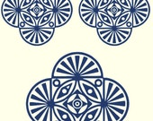 A316 (Art Deco Shapes )  for the Rolling Mill, Low Relief Pattern.