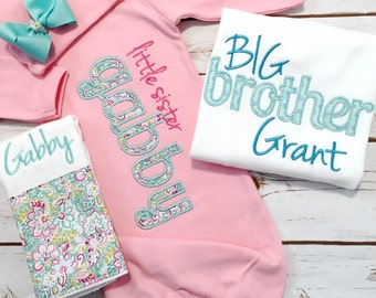 Big Brother Little Sister Set - Matching Sibling Set - Brother Sister Shirts - Coordinating Sibling Outfits - Brother Shirt - Sister Shirt