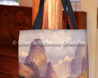Tote Bag, Moran Valley of the Bubbling Waters, Utah, Book Bag, Grocery Bag, Shopping Bag, Western Landscape