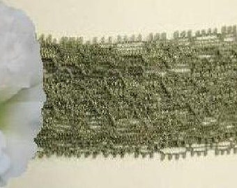 Green Lace Trim 10/20 Yards Stretch Galloon 1-1/4 inch wide Lot I31 Added Items Ship No Charge