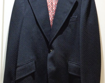 VINTAGE 1970's GROSHIRE Men's Navy Sport Jacket ( available)