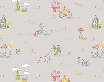 Colette - One Sunny Day in Light Grey by Brenda Walton for Blend Fabrics