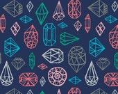 Crib Sheet - Navy Gems - Fitted Crib Sheet
