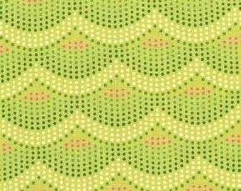 SALE Changing Pad Cover - Mermaid Scales Lime - Contoured Changing Pad Cover