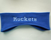 Personalized Fleece Headband Ear Warmer and Fully Customizable with your name and colors for team sports, spirit wear SALE