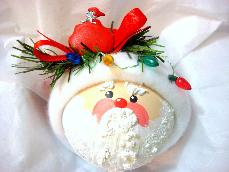 Santa christmas ornament string of by townsendcustomgifts on etsy - String ornaments christmas ...