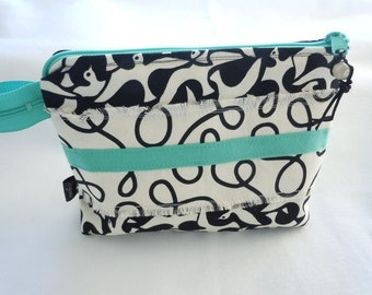 Cosmetic Bag Birds Black and White