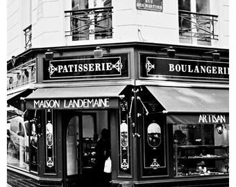 Black and White Paris Patisserie Photo, Patisserie Boulangerie in Paris, Vintage, Montmartre, Paris Photography, Paris 35mm Film Photography