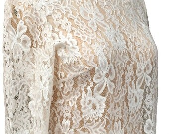 Chantilly Lace Blouse  Ivory Wedding