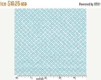 30% OFF store closing 1 yard of Dot in Square in Aqua from Michael Miller