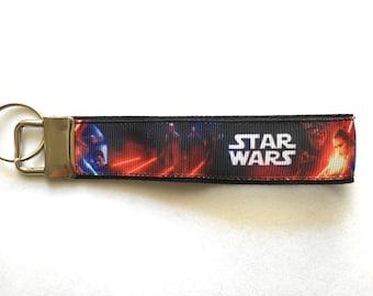 Star Wars Force Awakens Rey Kylo Ren Finn Fob Wristlet Moving In Gift