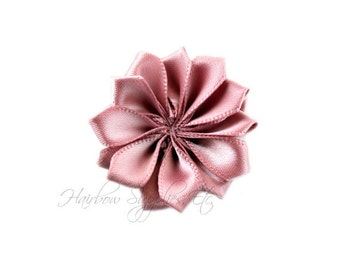 Taupe Dainty Star Flowers 1-1/2 inch-Taupe Fabric Flowers, Taupe Silk Flowers, Taupe Hair Flowers, Taupe Flower, Taupe Flowers for Headbands