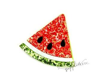 Watermelon Glitter Felt Appliques - Felt Applique, Feltie, Felties, Summer Felties, Wholesale Felties, Felt Accessories, Felt Hair Clip