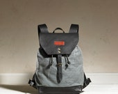 Sandy Rucksack - Charcoal Waxed Canvas