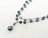 Hand-knotted Freshwater Pearl Necklace, Adjustable Stainless Steel Clasp