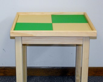 Lego table, perfect activity table made from solid wood, 4 Plates
