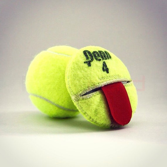 Handmade recycled tennis ball round compact change holder with - Can tennis balls be recycled ...