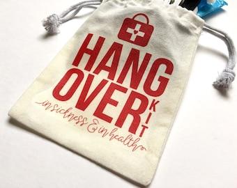 Hangover Kit, Bachelorette Hangover Kit, Survival Kit Bag, Wedding Hangover Kit, Wedding Survival Kit, Hangover Bag, Wedding Favor Bag
