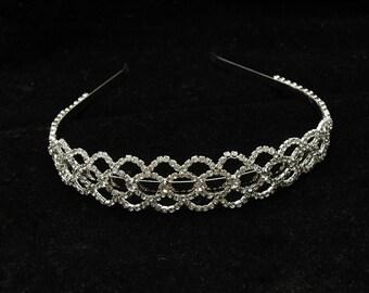 Crystal Wedding Headband, Rhinestone Bridal Headband Headpiece, Bridal Headpiece, Bridal Tiara, Fall Wedding Headpiece, Leaf Headpiece