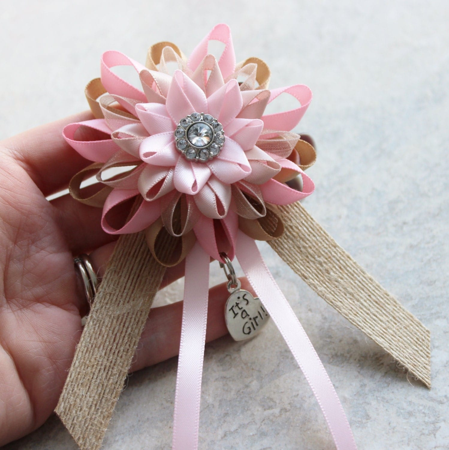 Rustic Baby Shower Decorations Pink Baby Shower Corsage