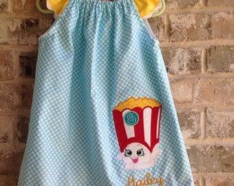 Shopkins inspired flutter sleeve dress