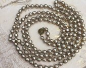 RESERVE FOR KATHY Signed Miriam Haskell Baroque Pearl Necklace, Elegant Estate Jewelry