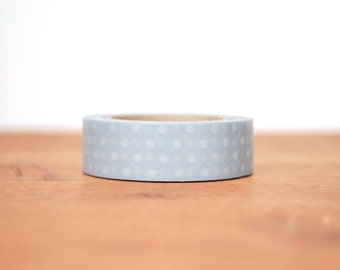 washi tape: grey and white polka dots