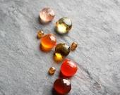 Custom Orange Ombre Earrings