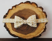 Skinny Gold & White Triangle Patterned Self-Tie Bow Tie | Mens Bow Tie | Wedding Tie | Groomsmen Bow Tie | Freestyle Bow Tie |Christmas Gift