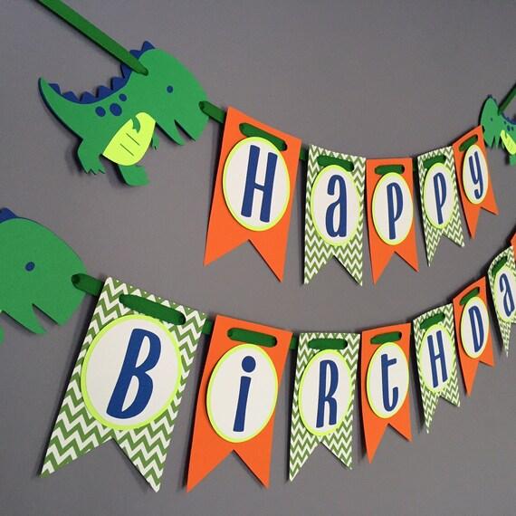 Boys Birthday Banner Dinosaur Birthday Decorations Dino